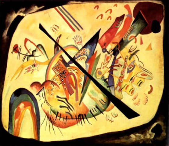 White Oval (1919)  by Wassily Kandinsky