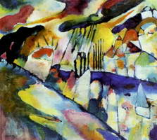 Landscape with Rain (1913) by Wassily Kandinsky