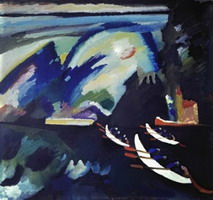 Lake (1910) by Wassily Kandinsky