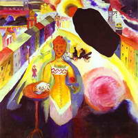 Wassily Kandinsky. Lady in Moscow, 1912
