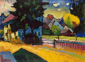 View of Murnau (1908) by Wassily Kandinsky