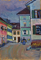 Murnau: Top of the Johannisstrasse (1908) by Wassily Kandinsky