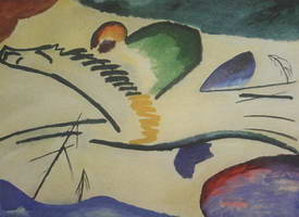 Lyrical (Lyrics) (1911) by Wassily Kandinsky