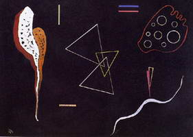 Three triangles (1938) by Wassily Kandinsky
