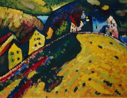 Wassily Kandinsky. Houses at Murnau, 1909