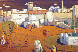 Arab city (1905) by Wassily Kandinsky