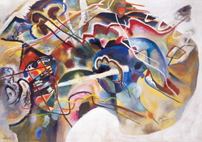 Painting With White Border (1913) by Wassily Kandinsky