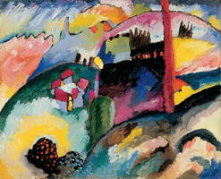 Landscape with Factory Chimney (1910) by Wassily Kandinsky