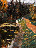Study for sluice (1901) by Wassily Kandinsky