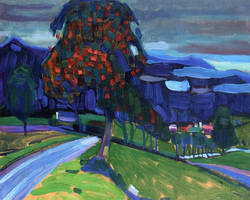 Autumn in Murnau (1908) by Wassily Kandinsky