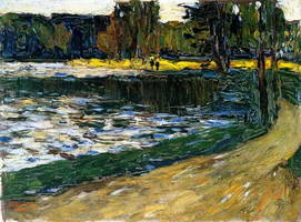 Munich - English Garden (1901) by Wassily Kandinsky