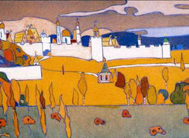 Wassily Kandinsky. Walled City in Autumn Landscape, 1902