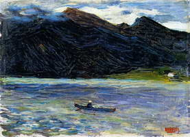Wassily Kandinsky. Kochel - Lake with Boat, 1902