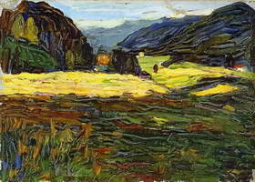 Wassily Kandinsky. Kochel - Landscape with Manor, 1902