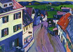 View from the Window of the Griesbrau (1908) by Wassily Kandinsky