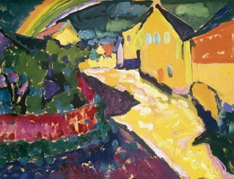 Wassily Kandinsky. Murnau with rainbow, 1909