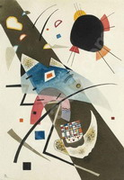 Wassily Kandinsky. Two black spots, 1923