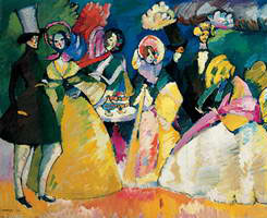 Wassily Kandinsky. Group in Crinolines, 1909