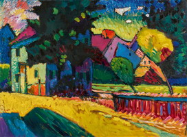 Murnau  - Landscape with Green House (1909) by Wassily Kandinsky