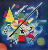 Blue Painting (1924) by Wassily Kandinsky