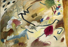 Improvisation with Horses (sketch for improvisation No. 20) (1911) by Wassily Kandinsky