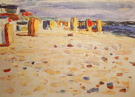 Wassily Kandinsky. Beach Baskets In Holland, 1904