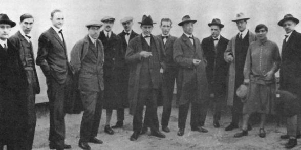 The Bauhaus masters on the roof of the new building