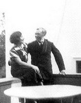 Galka Scheyer and Wassily Kandinsky in Dessau, 1928