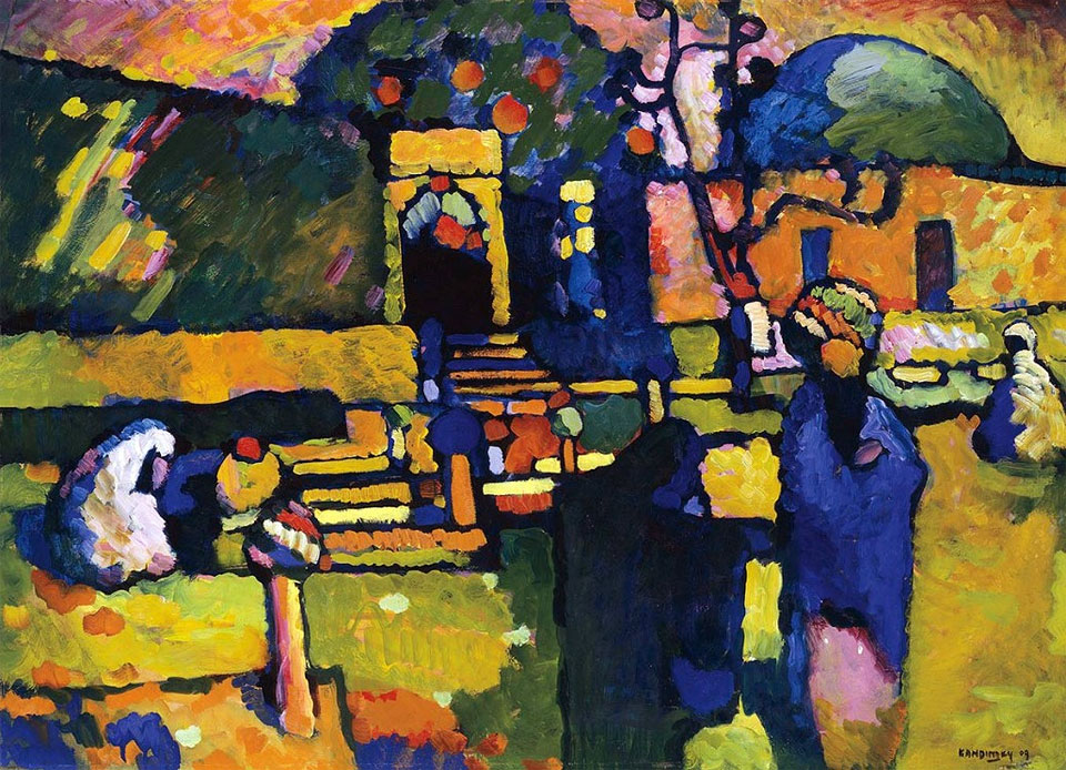 Arabs (Cemetery) (1909)  by Wassily Kandinsky
