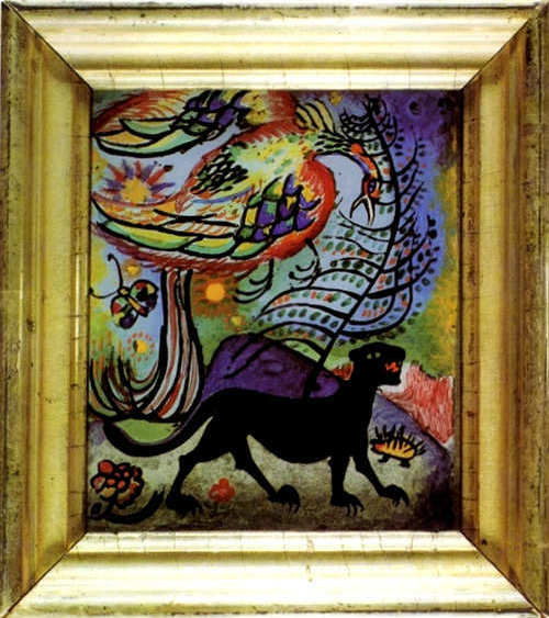 Hound of Hell and Bird of Paradise (1911)  by Wassily Kandinsky