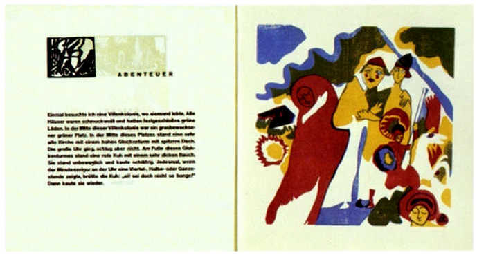 "Double spread from Kandinsky's book ""Sounds"" (1913)  by Wassily Kandinsky"