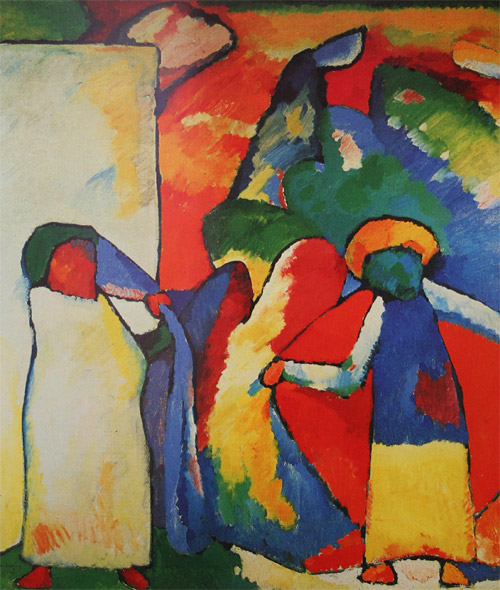 Improvisation 6 (African) (1909)  by Wassily Kandinsky