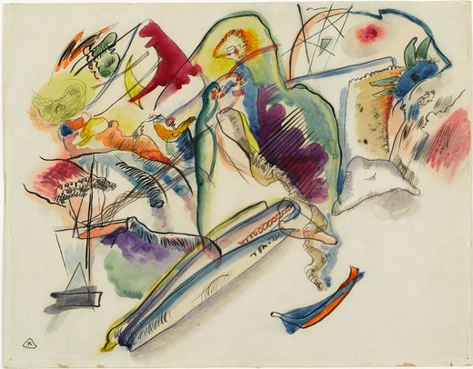 Watercolor (Number 13) (1913)  by Wassily Kandinsky