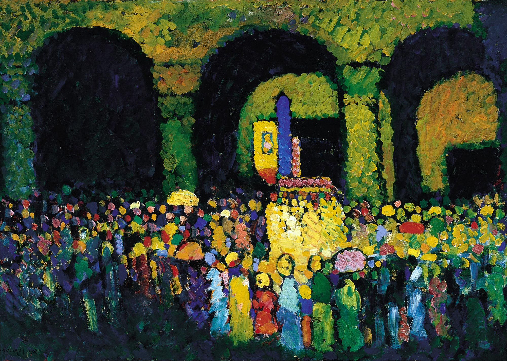 The Ludwigskirche in Munich (1908)  by Wassily Kandinsky
