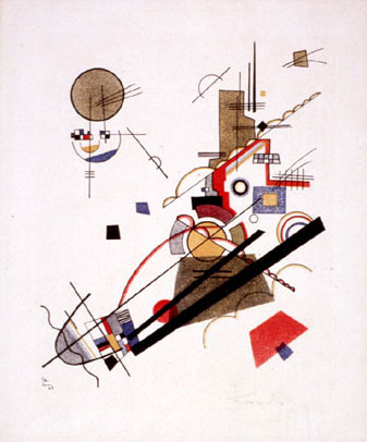 Parallel Diagonals (1925)  by Wassily Kandinsky