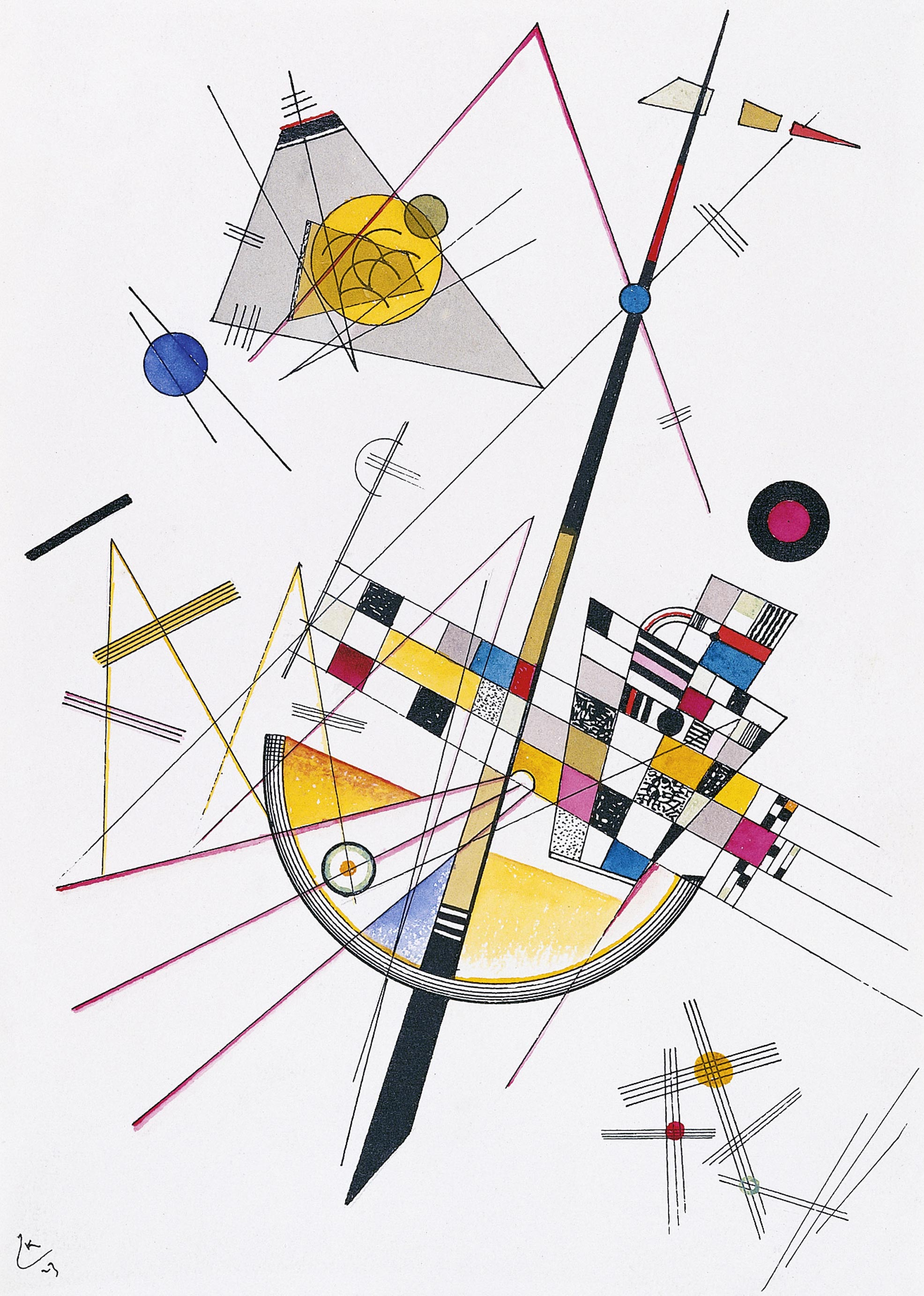 Delicate Tension #85 (1923)  by Wassily Kandinsky