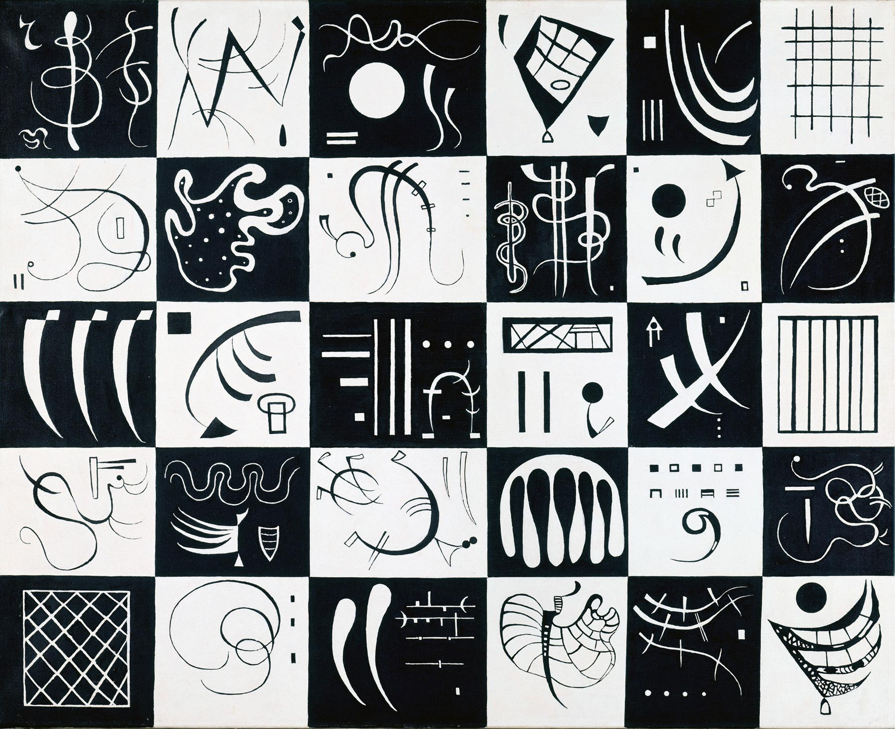 Thirty (1937)  by Wassily Kandinsky