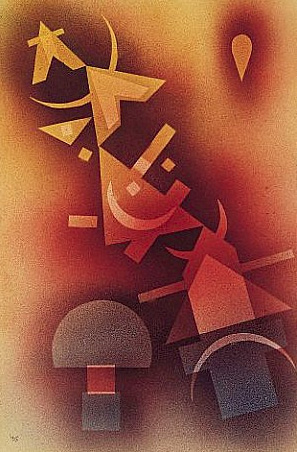 From Cool Depths (1928)  by Wassily Kandinsky