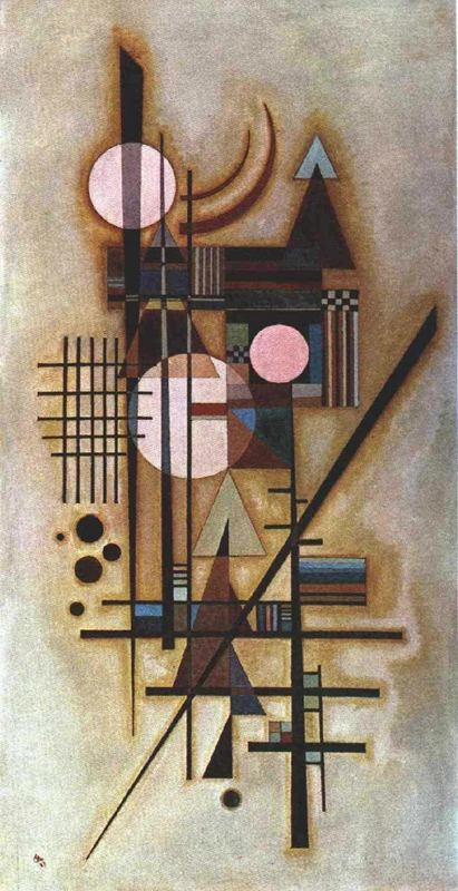 Softened Construction (1927)  by Wassily Kandinsky