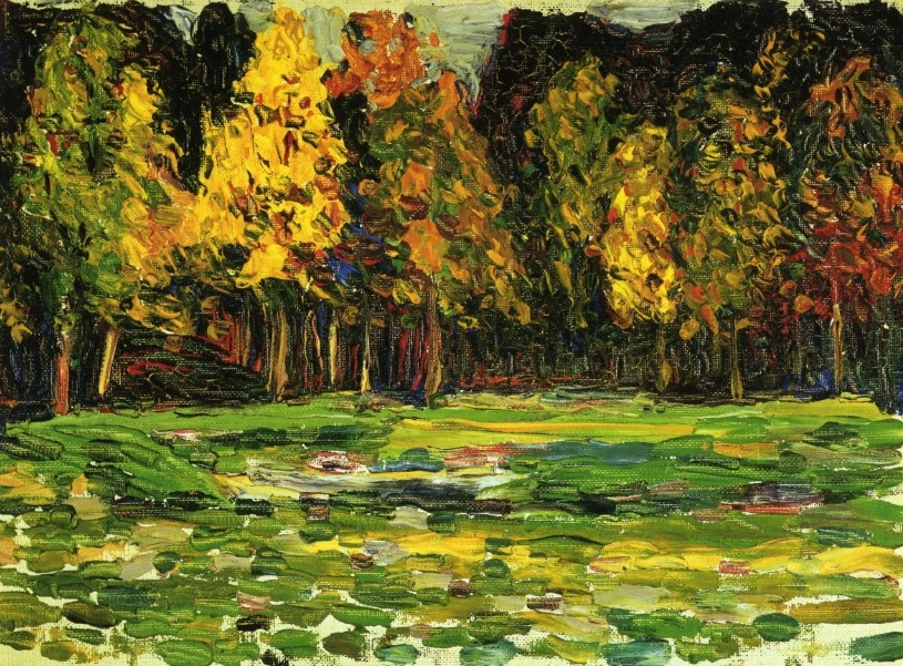 Forest Edge (1903)  by Wassily Kandinsky