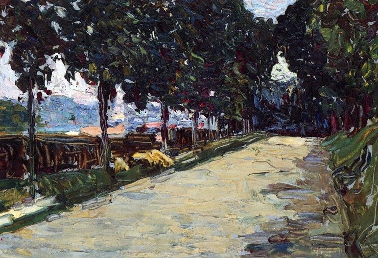 Park of St. Cloud (1906)  by Wassily Kandinsky