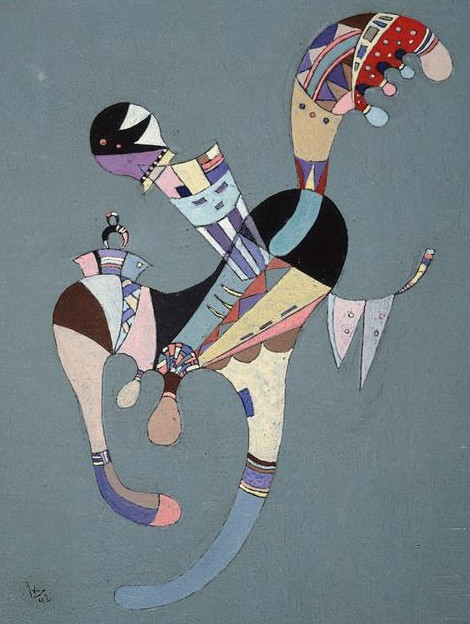 A Floating Figure (1942)  by Wassily Kandinsky