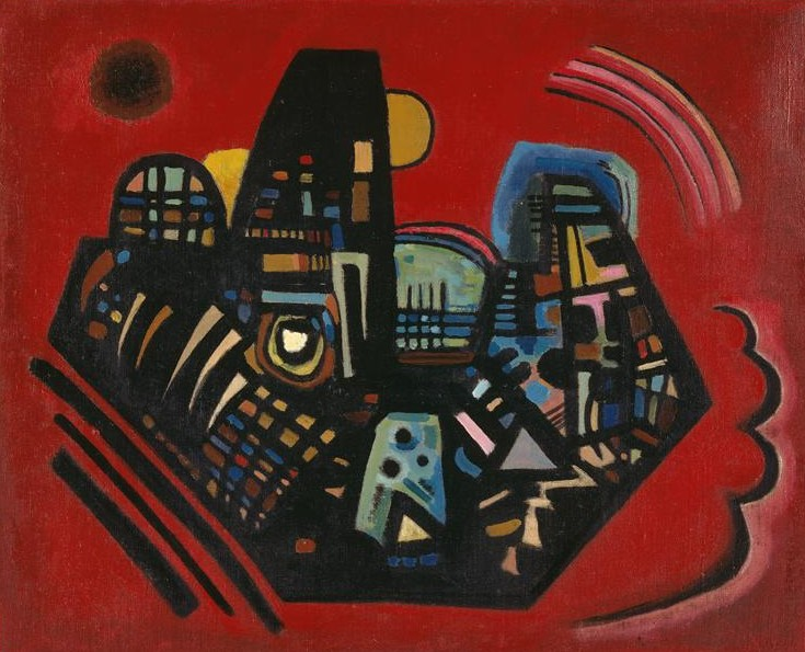 Black-Red (1928)  by Wassily Kandinsky