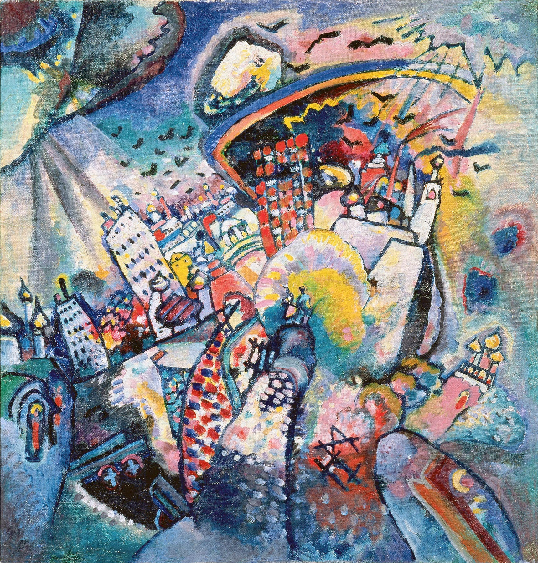 Moscow. Red Square (1916)  by Wassily Kandinsky