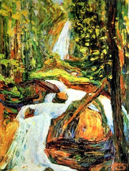 Kochel – Waterfall I (1900)  by Wassily Kandinsky