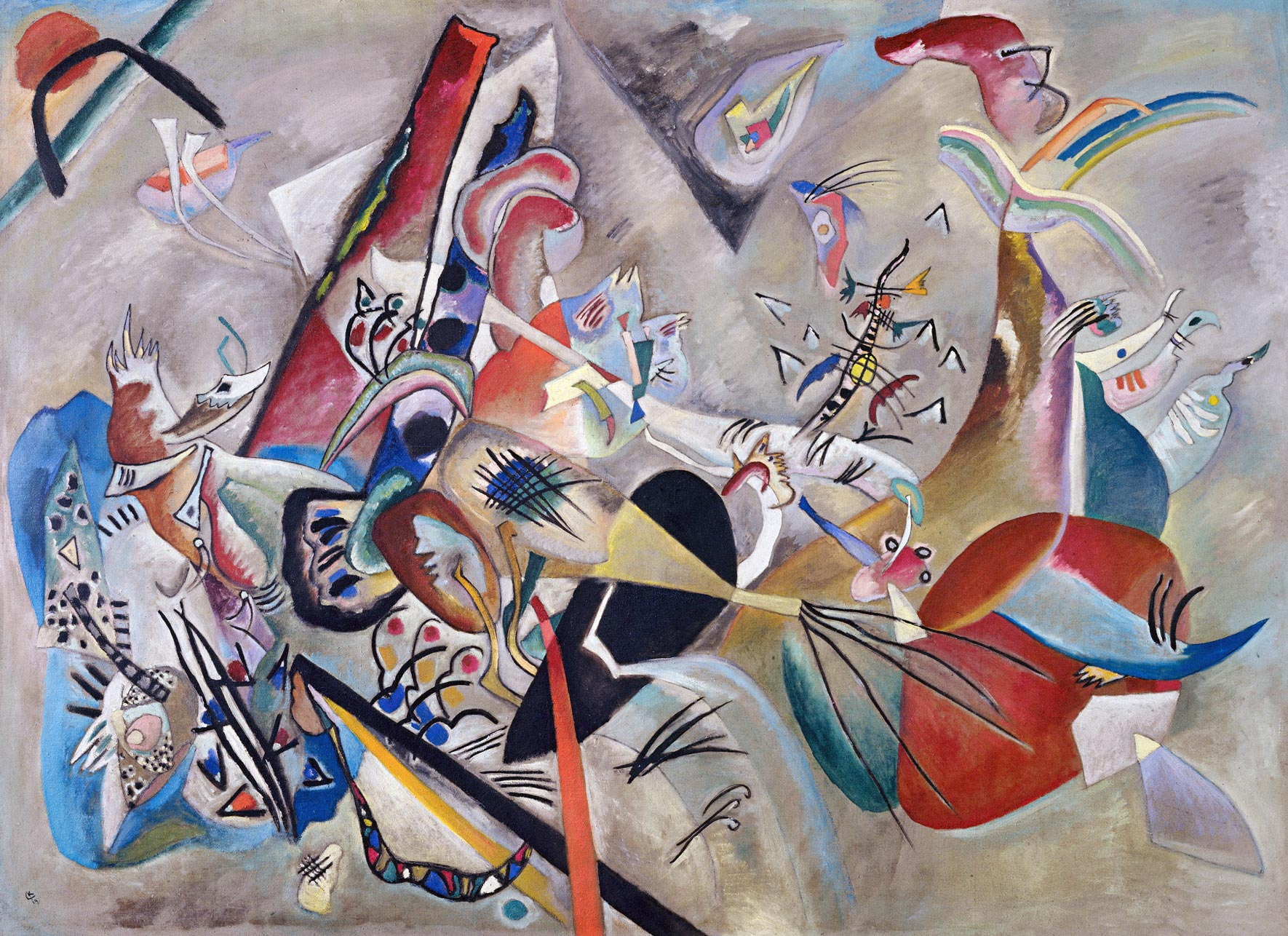 In Grey (1919)  by Wassily Kandinsky