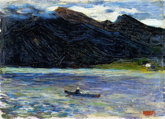 Kochel - Lake with Boat (1902)  by Wassily Kandinsky