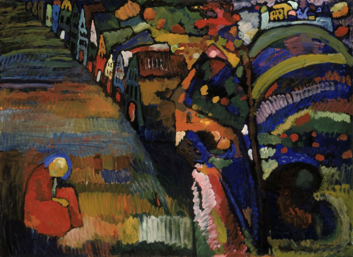 Painting with Houses (1909)  by Wassily Kandinsky