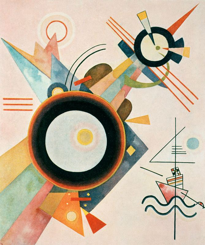 Image with Arrow (1928)  by Wassily Kandinsky
