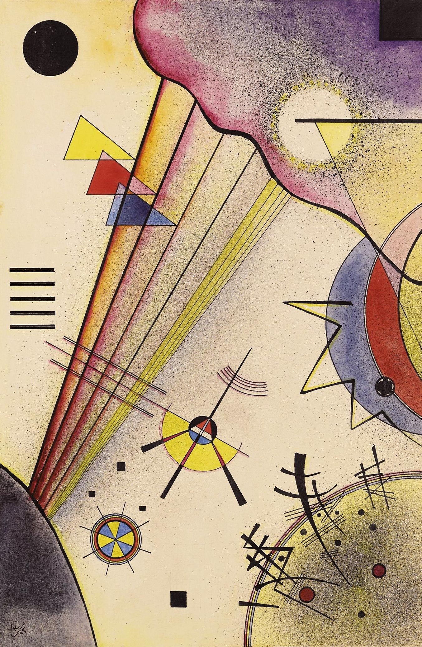 Clear Connection (1925)  by Wassily Kandinsky